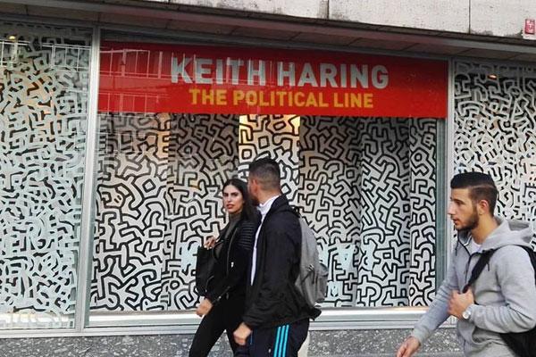 foto-Etalage-Bijenkorf-Keith-Haring